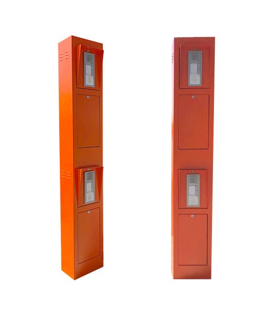LKW/PKW Steuerungssäule in orange mit Sprechanlagen