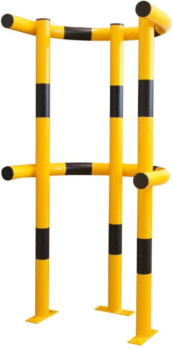 gelber, extrahoher Rammbügel mit zwei Bögen