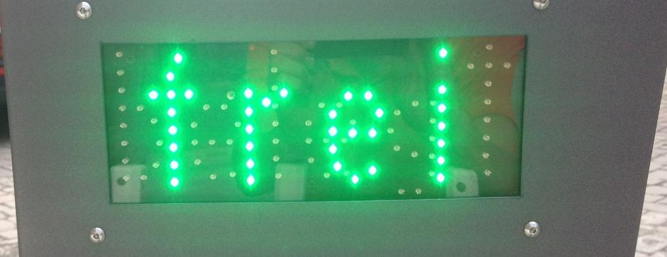Schranke mit frei/belegt LED- Anzeige