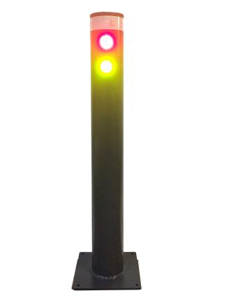 Rammschutzpfosten mit LED-Ampel