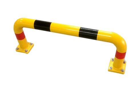 gelber Rammschutzbügel aus Vollkunststoff