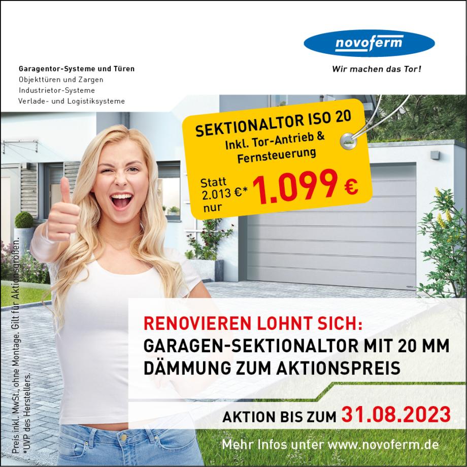 Anzeige Novoferm Garagentor ISO 20