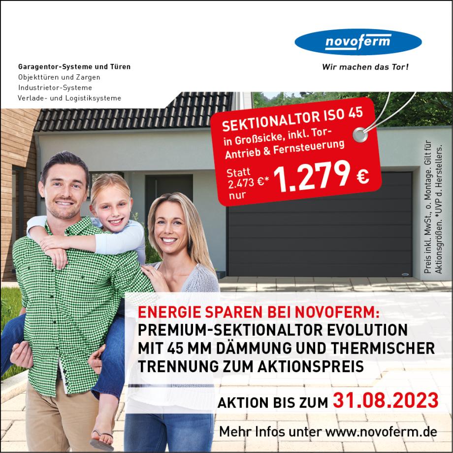 Jetzt günstig kaufen -Frühjahrsaktion von Novoferm