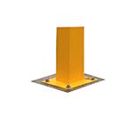 Bodenplatte einer gelben LKW-PKW Bediensäule Standard