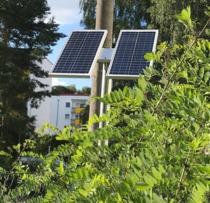 Solarpanel zur Versorgung einer elektrischen Schranke
