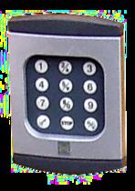 Hörmann Codetastertur in Metalloptik mit 12 weißen  Tasten