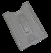 PKW Transponderkartenhalter aus transparentem Kunstoff, mit Saugnapf