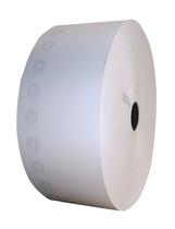 Papierrolle mit weißem Papier zum Ausdruck von Parktickets