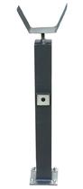 Höhenverstellbarer Auflagepfosten mit montierter Lichsschrankei Farbe DB 703.