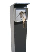 Bediensäule eckig nur 80 x 80 mm, Schlüsseltaster,und zwei Schlüsseln.