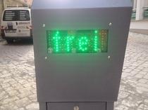 """LED Anzeige """"frei"""" für Parkplätze"""